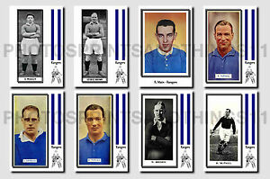 RANGERS -  CIGARETTE CARD HISTORY 1900-1939 - Collectable postcard set # 3