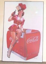 "Vintage Coca Cola Coke Drum Major Girl by Cooler Print Picture 36"" X 24"""