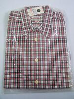 Levi's Checked Shirt Men's Large Unworn 1990s Red White Blue NWT Vtg LSHz588 #