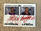 2007 Topps Rookie Premiere #RPDA-PL Marshawn Lynch/ Adrian Peterson RC/Auto's !!