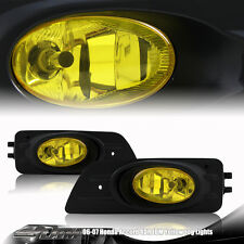 06-07 Honda Accord 4 Door JDM Yellow Lense Fog Light Complete Kit