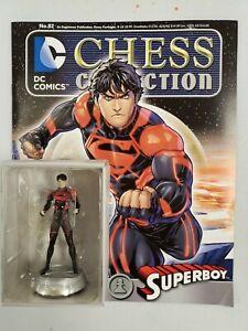 DC SUPERHERO CHESS FIGURE COLLECTION  #82 SUPERBOY WHITE PAWN W / MAGAZINE