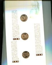 CHINA 1993 1995 1996 1997 1998 1999 5 YUAN COPPER 10 COIN ANIMAL SET BU