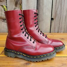 💥Dr. Martens Doc England Rare Vintage Cherry Red Leather 1490 Boot UK4 US6💥