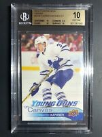 2016-17 Upper Deck Kasperi Kapanen Young Guns Canvas Rookie BGS 10