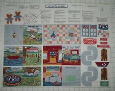 TEDDY'S DAY OUT BOOK ~ HANDLES ~ Nursery Collection Rose & Hubble Fabric Panel