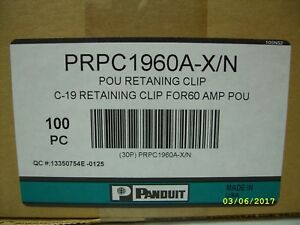 PANDUIT - POU Retaining Clip for FOR60 AMP C19 - PRPC1960A-X/N - 100 PACK *NEW*