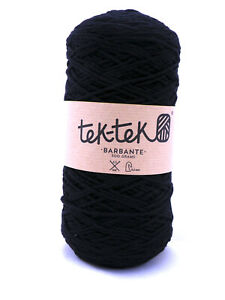 Crafting Cotton 6ply BLACK New Cotton Knit Crochet Weave 220m washable
