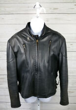 Motorcycle Apparel Natel Leather Harley Davidson Womens Jacket SZ 14 Distressed