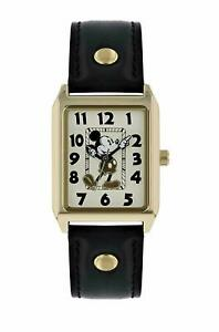 Mickey Mouse Womens Analogue Classic Quartz Watch with Leather Strap MK1451