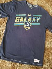 Los Angeles Galaxy Size L 100% Authentic T Shirt ((Mitchell and Ness))