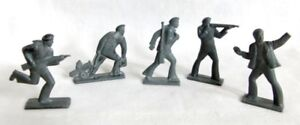 Original Soviet Russian Tin Pewter Sailors Revolution Toy Soldiers x 5 USSR Vntg
