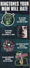 Ringtones...The Used / Deftones /Avenged 7X /Head Aut. RARE promo sticker sheet