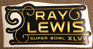 """RAY LEWIS 19"""" X 9.5"""" nameplate Super Bowl 47 Ravens Fathead Wall Graphics decal"""