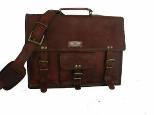 Handbag Messenger Laptop Briefcase Bag Mens Genuine Vintage Leather Satchel