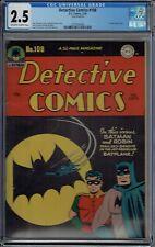 CGC 2.5 DETECTIVE COMICS #108 CLASSIC 1ST BAT SIGNAL COVER BATMAN & ROBIN 1946