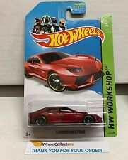 Lamborghini Estoque #197 * RED * 2014 Hot Wheels * d23