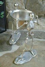 "BROOMSTICK BLVD 15"" Human Skeleton Aluminum Bowl"