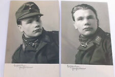 pair of second war portraits young luftwaffe man wearing scarf    kapfenberg