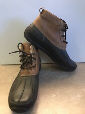 Cole Haan Brown Leather Green Weatherproof Men Boots Shoes 10M Fur