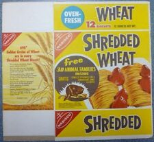 1950's Nabisco Shredded Wheat 3D Animal Families Ad Box
