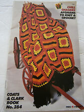 1980 Chill Chasers Afghans to Knit & Crochet Pattern Book #284 Ripple Fisherman