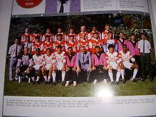 FOOTBALL COUPURE LIVRE PHOTO COULEUR 20x10 D2 GrB FC ROUEN 1989/1990