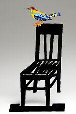 David Gerstein Art Empty Chair bird on a chair Metal Modern Sculpture