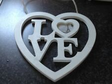Rustic Heart Shaped Photo Frame &the Word LOVE In The Middle