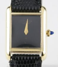 Vintage Must de Cartier 18k Yellow Gold Electroplated Women's Hand-Wind Watch