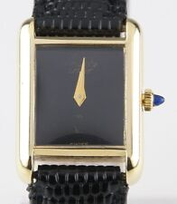 Vintage Must de Cartier 18k Yellow Gold Electroplated Women's Quartz Watch