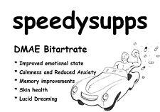 DMAE Bitartrate powder 50 grams anti aging memory skin reduced anxiety calmness