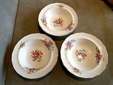 "Set Of 3 Vintage Swinnertons ""Luxor Vellum"" Dessert Bowls. VGC"