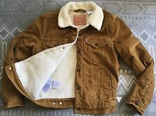 "🇺🇸 LEVIS Brown Sherpa Trucker Jacket (S)36""-38"" ⭐️Great Colour & Condition ⭐️"