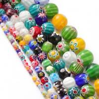 Mixed Millefiori Flower Lampwork Glass Charms Beads 4mm 6mm 8mm 10mm 12mm 14mm