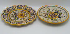 Vintage Talavera Pottery HAND CRAFTED Plate and Bowl Wall Hangings Floral Design