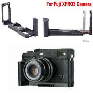 L Type Bracket Tripod Mount Plate Grip Handle For Fuji XPRO3 Camera Access