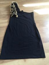 LADIES BLACK/GOLD SIZE 10 TOP IDEAL FOR PARTY SEASON