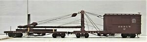 WESTSIDE MODEL COMPANY D&RGW DERRICK OP WITH IDLER CAR On3 SCALE