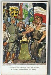 um 1915  Kaiser Wilhelm II, Künstlerak Franz Staffen, ungebraucht-druckfrisch