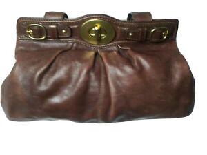 Vintage Coach 13924 Garnet  Brown Leather Satchel Handbag Large