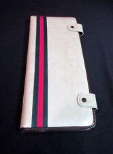 Vintage Travel Case for Necktie and Handkerchief White Vinyl Exterior