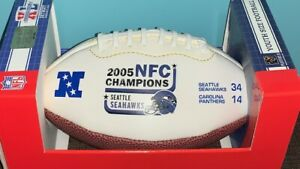SUPER BOWL XL SEATTLE SEAHAWKS 2005 NFC WEST CHAMPS YOUTH SIZE FOOTBALL