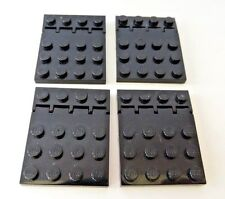 LEGO Car Truck Vehicle Black Hinge Hinged Plate Vehicle Roof Lot of Four