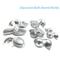 16Pcs Creative Metal Aluminum Bath Bomb Molds Moulds DIY Homemade Crafting Gift
