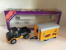 Unimog mit Bauwagen von Siku 2533 1:55 OVP