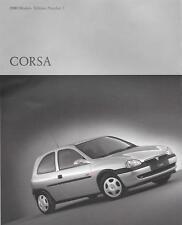 Vauxhall Corsa enviado, Club, GLS, SXI, deporte y Cdx folleto de ventas 2000 Modelos