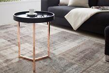 Table d'appoint Table basse TRITON 40cm noir cuivre motif rétro plateau table