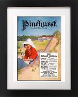 Antique PINEHURST Golf Course Hotel Club Golfing BOY Sand Trap Poster Art Print