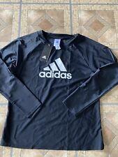 NWT adidas  Logo Black Size Large  Nylon/Spandex Shirt 3/4 Sleeves